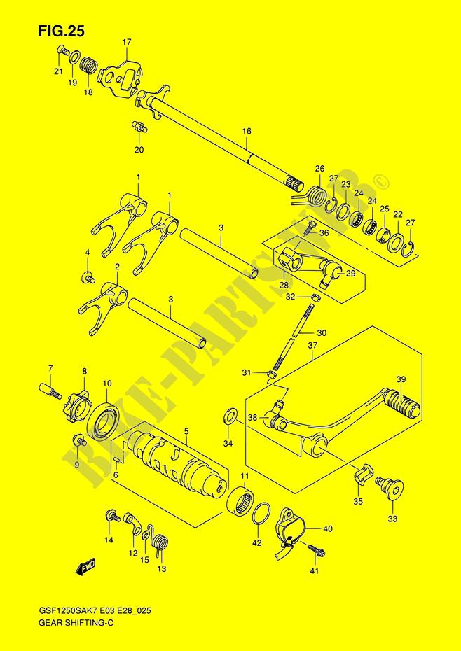 Leva Freno Destra Regolabile Cromata Suzuki GSF Bandit 1250 2007-2009 E33171451